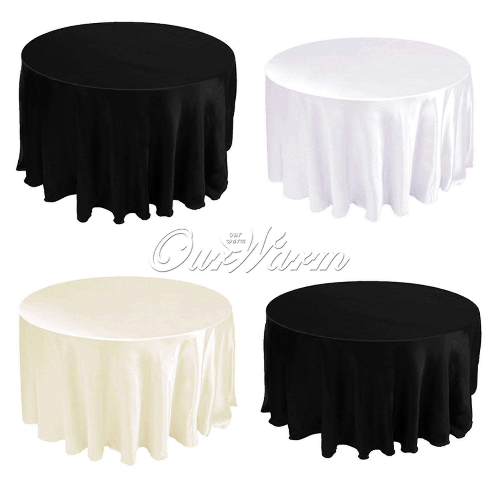 Design Black Tablecloth 108 satin tablecloth table cover white black round for banquet wedding party decor wholesales cth covers sale banquet