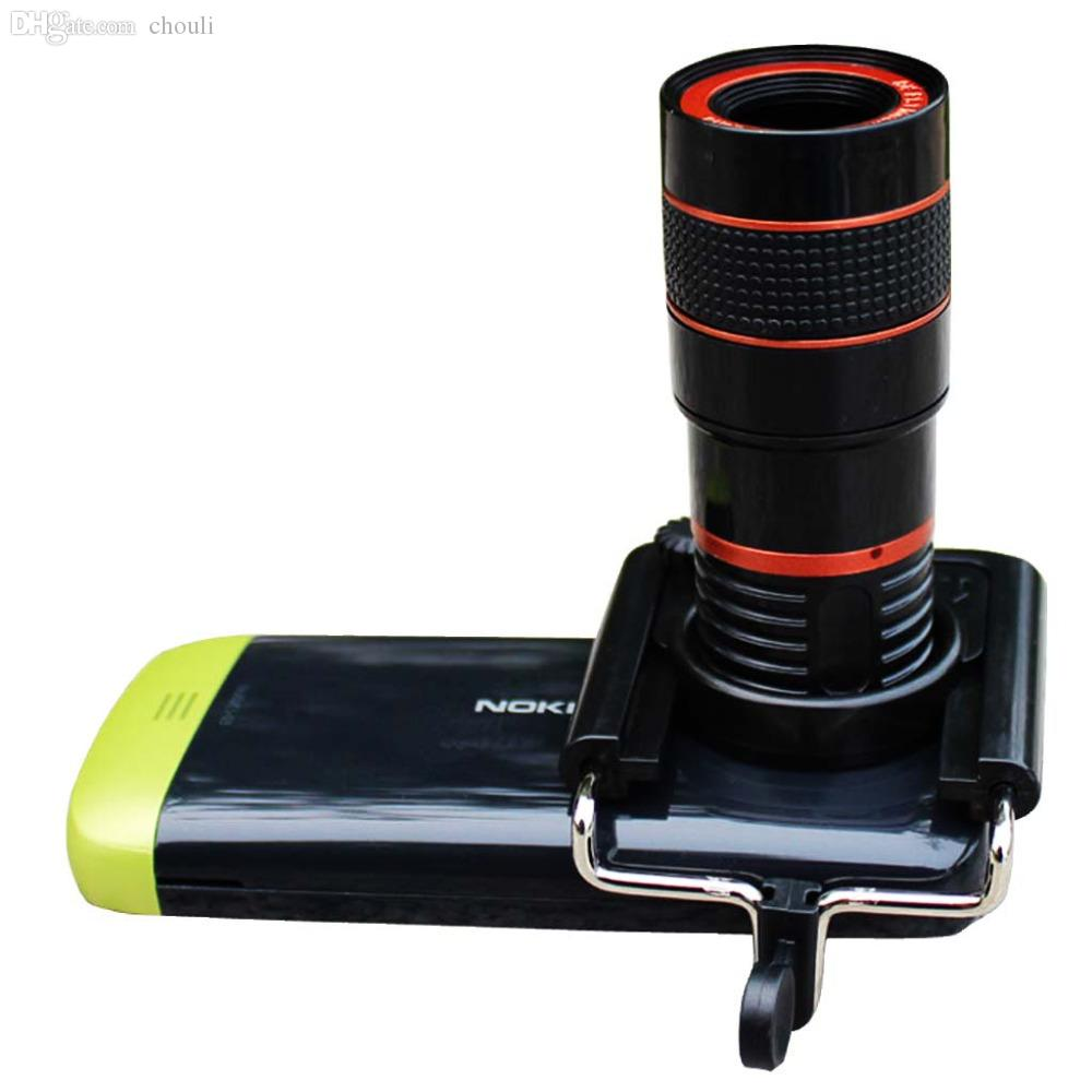 Wholesale-8x Zoom Mobile Phone Telescope Clip Lens 5pcs/lot free shipping