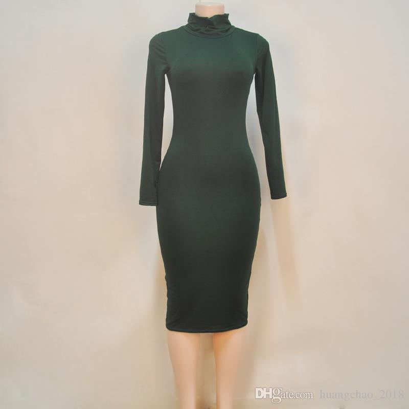 Frauen Kleid 2017 Neuheiten Sommer Stil Schwarz Grün Weinrot Weiß, Figurbetontes Kleid Party Abend Elegante Billige Kleidung