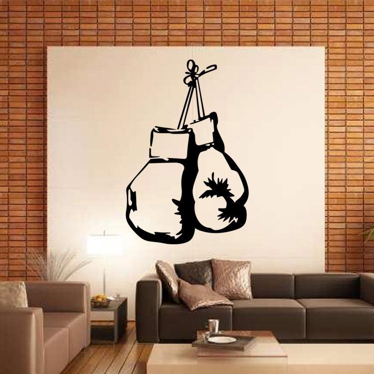 Compre Guantes De Boxeo Etiqueta Engomada Mural De La Pared
