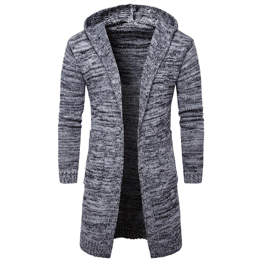 2017 New Men's Thick Hooded Cardigan Sweater Coat Fashion Trend in ...