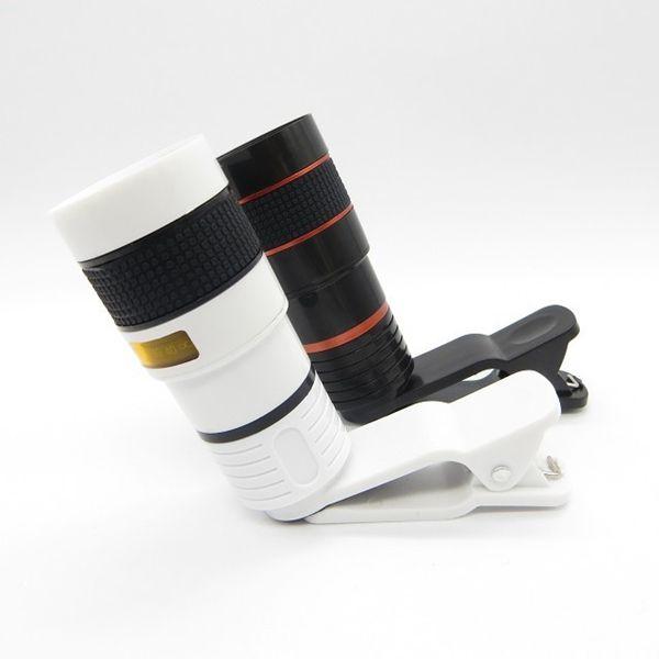 Universal 8x optischer Zoom Mobile Teleskopobjektiv mit Clip für Smartphone iPhone Samsung iPad HTC Sony Blackberry mit Kleinkasten