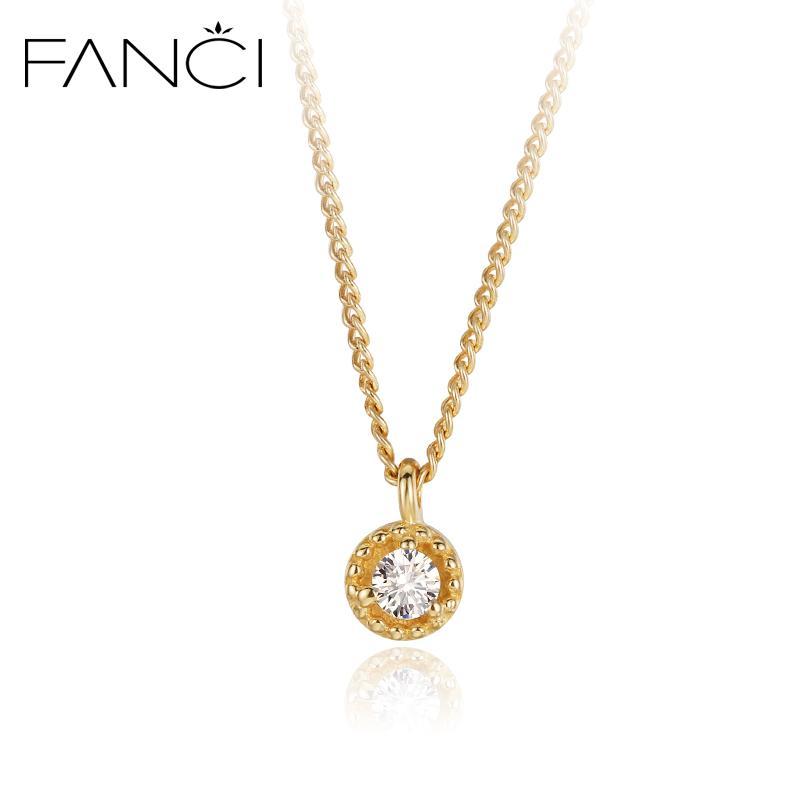 Wholesale Fanci Korean Zircon 14k Gold Necklace Female Clavicle ...