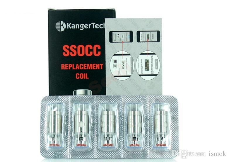 Kangertech SSOCC Катушки 0,5 / 1.2ohm Sub Ом Замена катушки Головка для Kanger субтанке Subox Topbox Mini Nano Nebox Subvod Kits