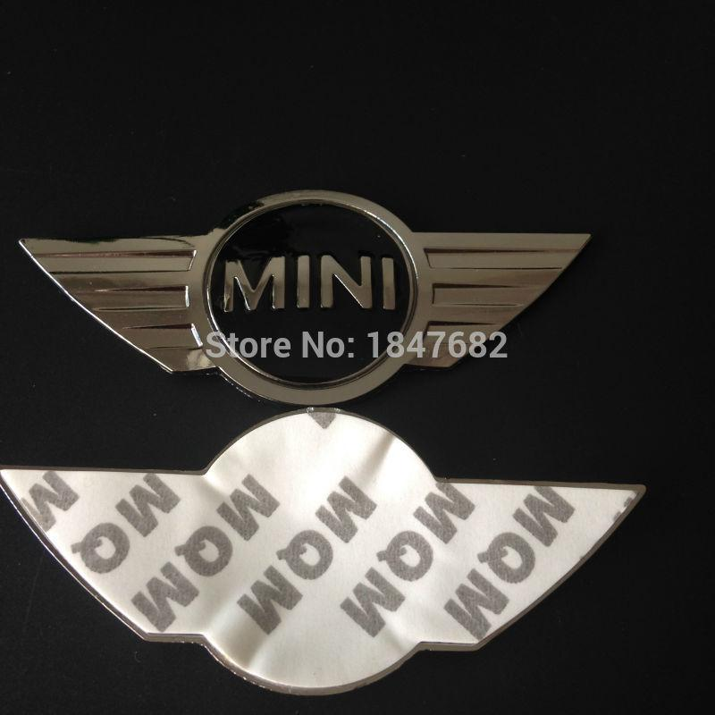 High quality 3d metal mini cooper sticker for mini car front badge logo with 3m sticker for car badges emblem decoration online with 8 75 piece on
