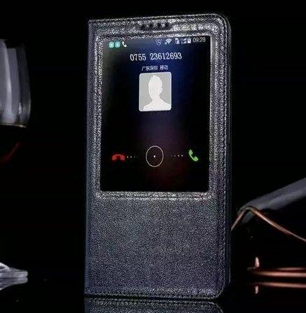 Горячая продажа для Huawei Mate 7 Case флип стенд подлинная крышка окна оригинальный ультра-тонкий роскошный кожаный чехол для Huawei Ascend Mate 7