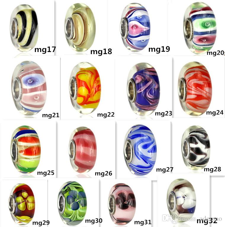 54 kinds S925 Silve plating Fascinating Faceted high fire Murano Glass Beads Fit Europe pandora Jewelry Charms DIY Bracelets & pendants