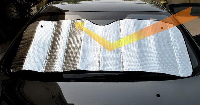 Wholesale Sided Silver Aluminum Bubble Sunshade Front Windshield Sun Visor  Summer Car Sun Shade Block 130x60mm Window Car Shade Window Car Shades From  ... 2d89fee153d