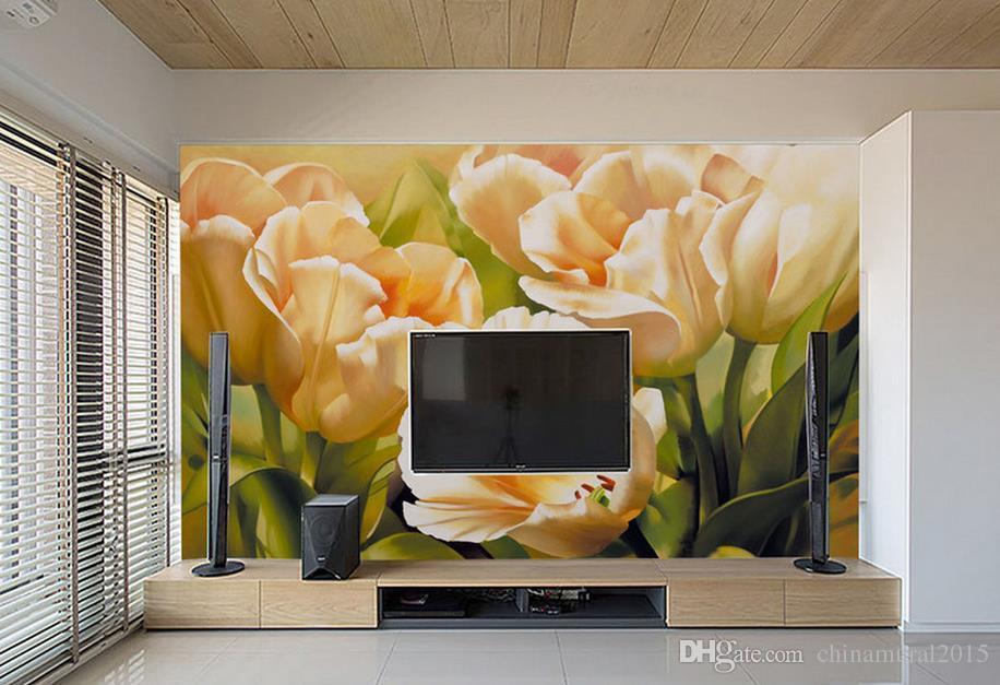 rouleau mural européen classique peint à la main art peinture à l'huile papier peint brique mur 3d