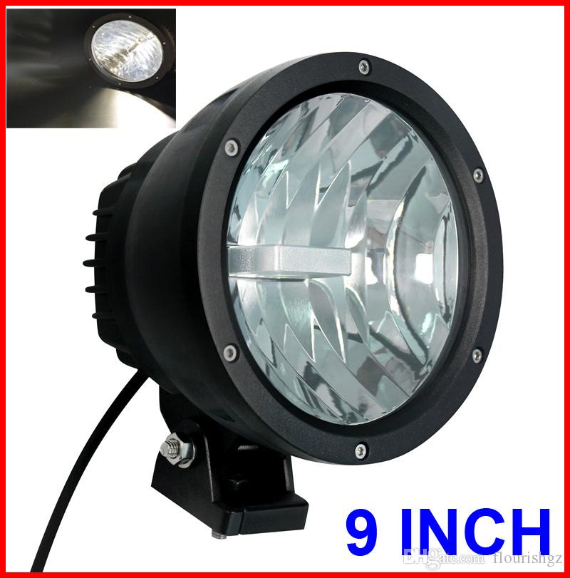 "NEW 9"" 50W CREE LED Driving Work Light 2COB*25W CHIP Offroad SUV ATV 4WD 4x4 Spot Pencil Beam 12/24V 5000lm Xenon White 6K Replace HID"