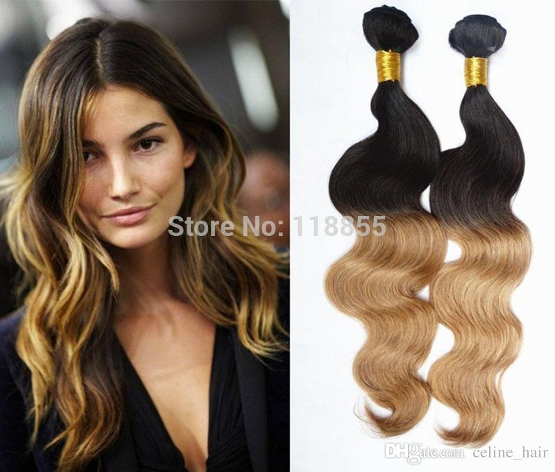 Cheap 6a brazilian ombre virgin body wave hair extensions dip dye 6a brazilian ombre virgin body wave hair extensions 3pcs dip dye 1b27 blonde loose deep wave curly hair weave free shipping 345pcslot pmusecretfo Gallery