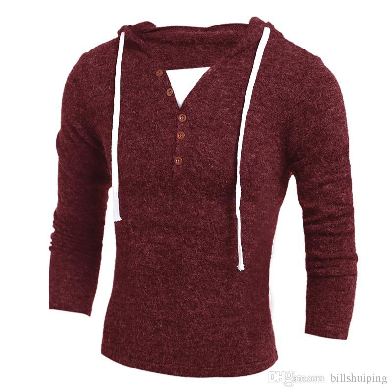 new Fashion sweater jacket hedging Slim men T shirts gray sweater hot Men's Clothing