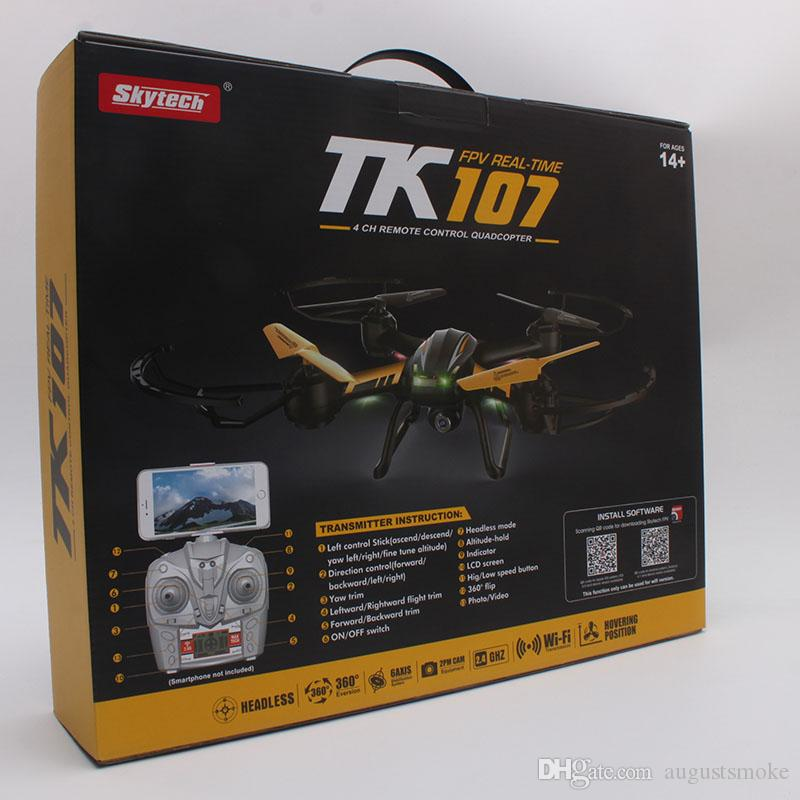 Original Drones TK107 RC Drone Helicopter Quadcopter with HD Camera 2.4G 4.5 Channel 6-Axis with retail box toy WIFI gift