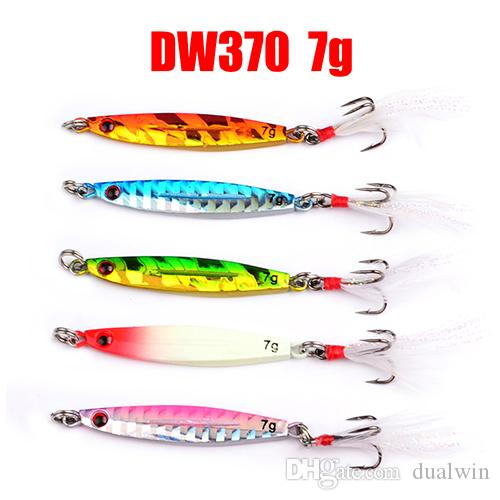 fishing lure 7/10/14/17/21g/28g/40g Lead Fish hook with feather fishing Bait Casting Lure Fishing Tackle
