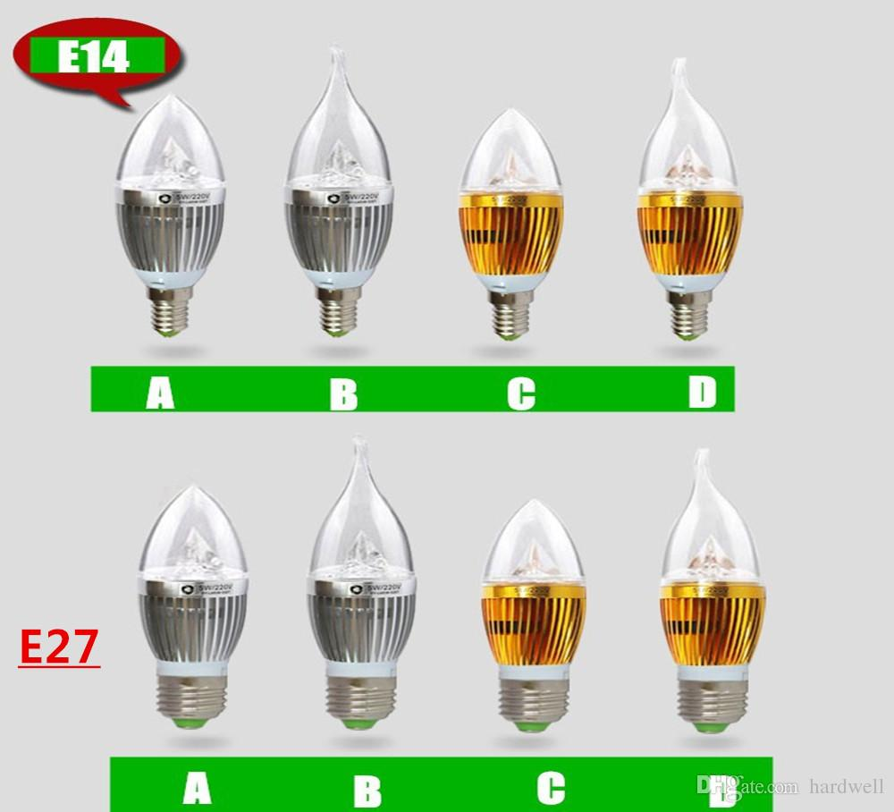 E14 Candle light E12 E27 B22 AC 220V 110V LED Candle Bulbs 360 Degree bulb New Design lamp Replace Incandescent Light Energy Saving Dimmable