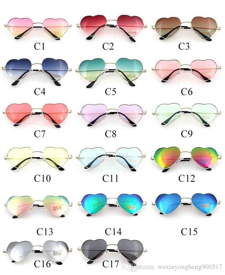 gafas de sol de moda para hombres y mujeres Gafas de sol Love Gafas clásicas de metal retro retro Peach heart gafas masculinas y femeninas color