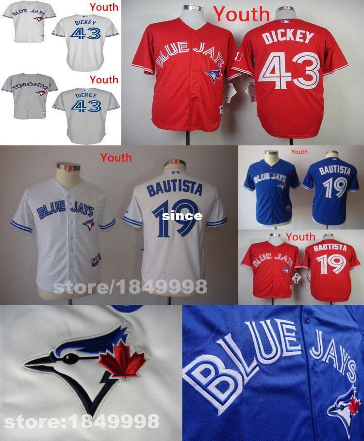 15d0c2176a2 ... Jerseys Cool Base Mens Baseball Home 2017 Wholesale Custom Mens Womens  Kids Toronto Blue Jays 43 R.A. Dickey 13 Brett Lawrie Stitched .