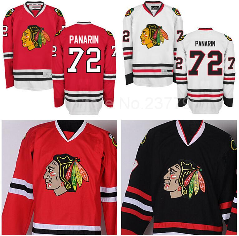 timeless design e91a8 ac928 Factory Outlet, Chicago Blackhawks Artemi Panarin Jersey 72 Ice Hockey  Artemi Panarin Blackhawks Jerseys Team Color Red White Black Best Qua