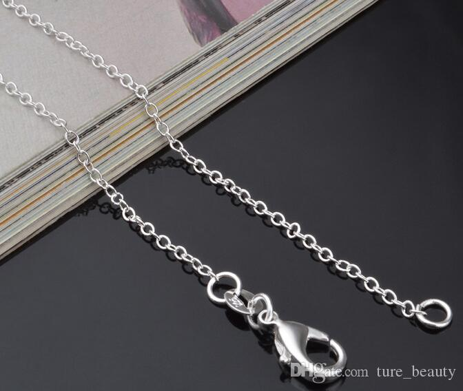 10% OFF 2015 hot sale 1MM 16-24INCH, 925 Sterling Silver Jewelry Necklace Collarbone chain Chains Snake fashion Jewellery wholesale /l