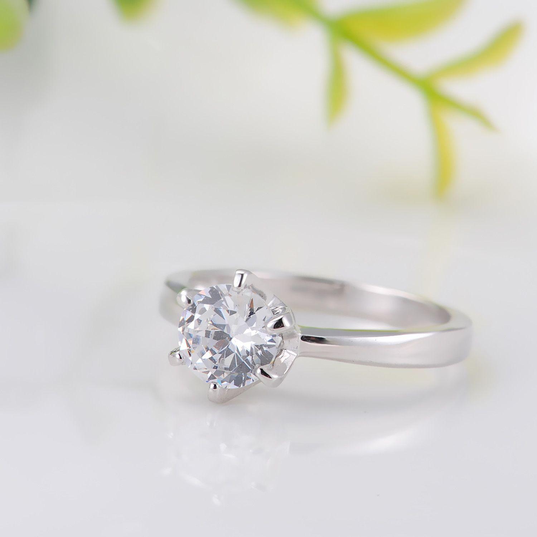 see larger image - Cz Wedding Rings