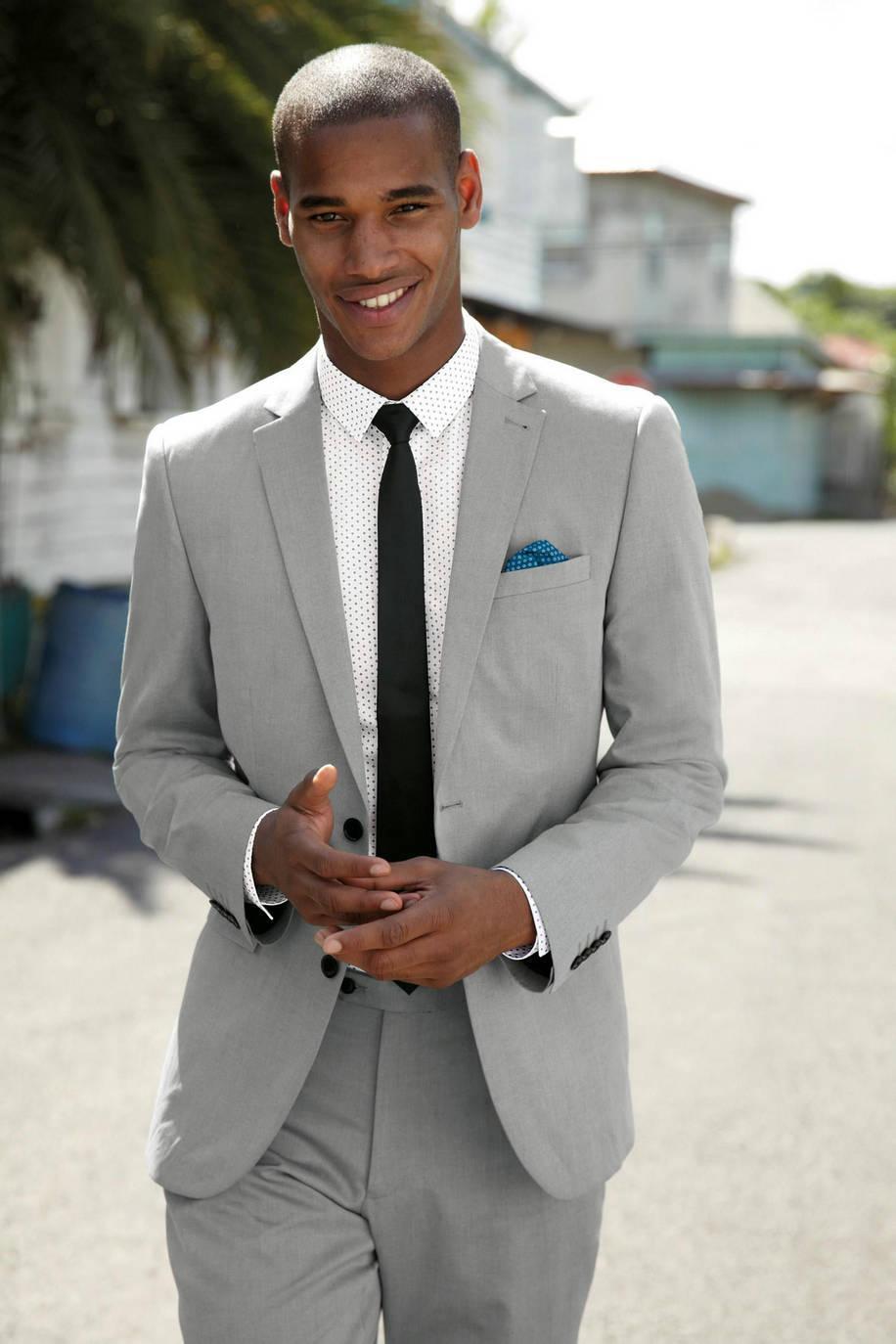 Light Grey Suits For Wedding - Suit La