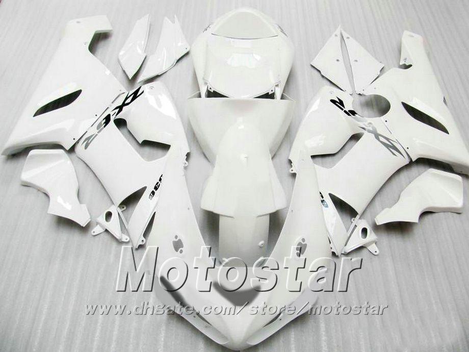 100% Injection molding fairing body kit for Kawasaki Ninja ZX-6R 2005 2006 fairings set ZX6R 636 05 06 all white motobike GH63