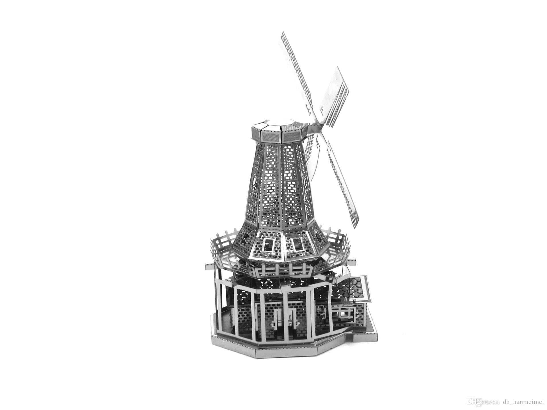 line Cheap Dutch Windmill 3d Puzzle Mental Alloy Handmade For