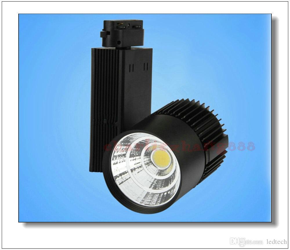 LED Raylı Aydınlatma 20W / 30W Bezi Işık Siyah / Beyaz Shell Led Tavan Lambası Led Spotlight Projeksiyon Lambası Duvar Lambası Parça Aydınlatma