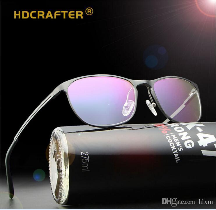 HDCRAFTER Brand New Aluminum Magnesium Ultralight Light Blue Light Mirror  Glasses Frame Fashionable Hipster Man P6290 Glasses Eyeglasses Frame Online  with ... ceb5e6981e