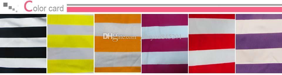 6 couleurs pour Choice Stripe imprimé Spandex Cover Cover un livraison gratuite pour un usage de mariage