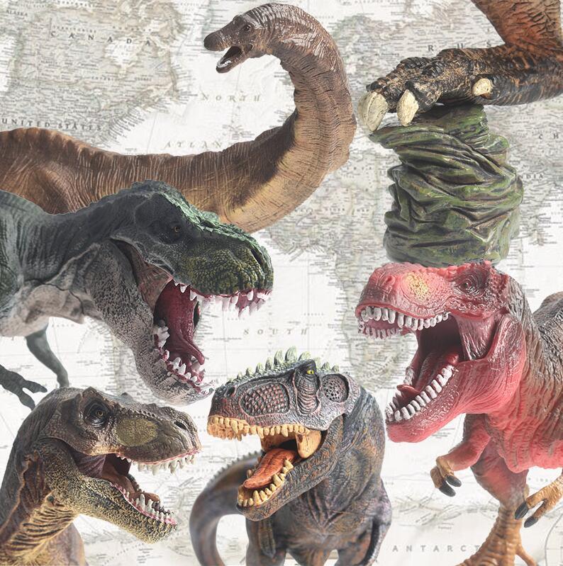 Dinosaur Action figure Jurassic World Park Red Imperial Tyrannosaurus Rex  Giganotosaurus,Seismosaurus Dinosaur Model Toys Free Shipping