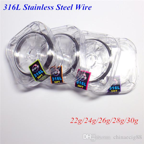 Stainless steel 316l resistance wires 30 feet coils heating wire 22g stainless steel 316l resistance wires 30 feet coils heating wire 22g 24g 26g 28g 30g gauge for e cigarette rdarba vaporizer atomizer flat ribbon wire build greentooth Image collections