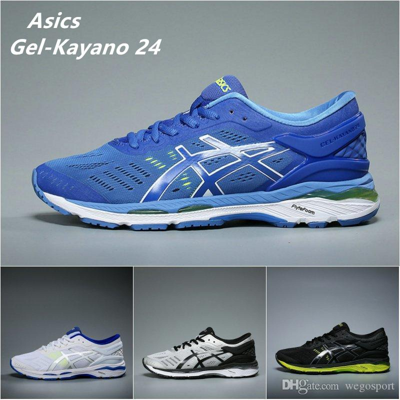 2018 Free Shipping Asics Originals Gel Kayano 24 Cushioning Running Shoes Mens Boots Women Fashion Basketball Shoes Sport Sneakers US 4 11