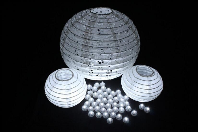 100 Stücke Farbe Runde Mini Led RGB Flash Ball Lampe Laterne Ballon Lichter Für Neujahr Deco Weihnachten Hochzeit Dekoration
