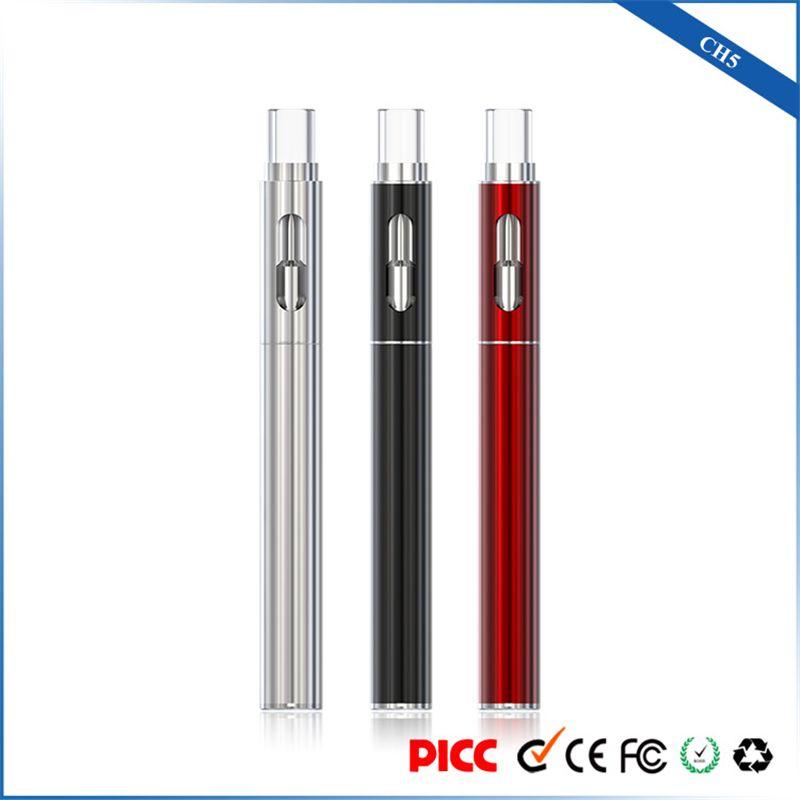 Оригинальный ecig испаритель ручка стартовый комплект бутон CH5 керамическая катушка картридж vape pen 510 резьба 290 мАч аккумулятор для густой нефти DHL бесплатная доставка