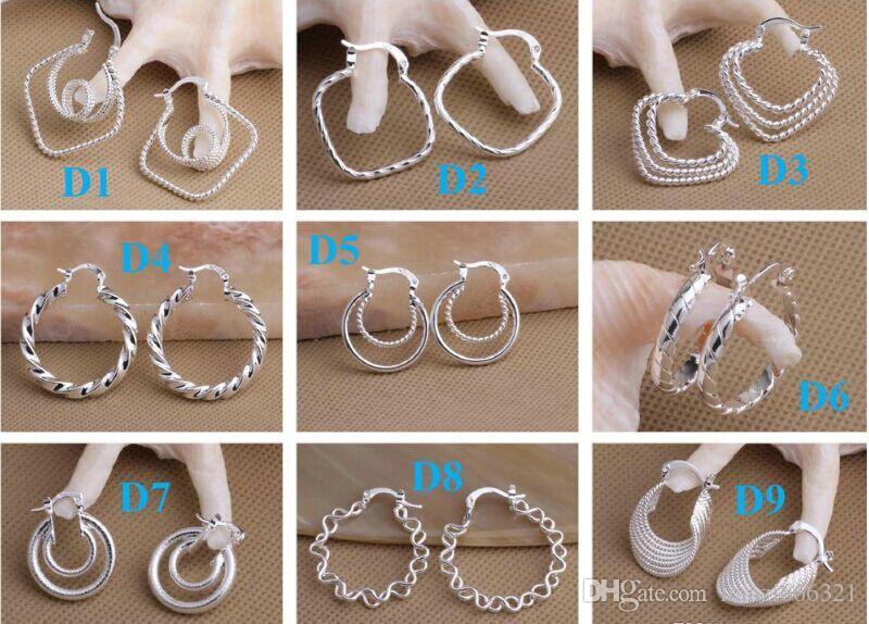 DangleChande ювелирные изделия Серьги лучший подарок маркировки 925 мода стерлингового серебра 925 Beautif серьги мотаться серьги 1762