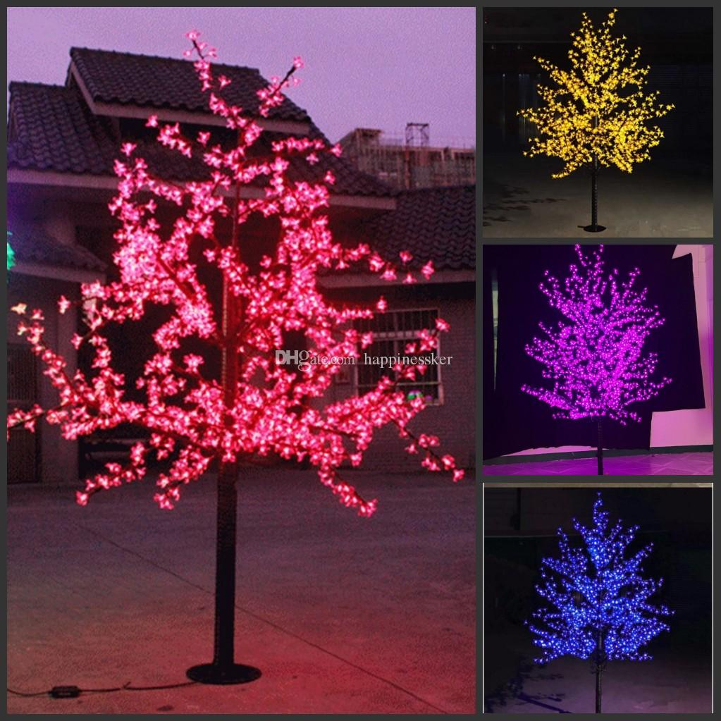Led Christmas Light Cherry Blossom Tree 480pcs Led Bulbs 1 5m 5ft Height Indoor Or Outdoor Use Free Shipping Drop Shipping Rainproof