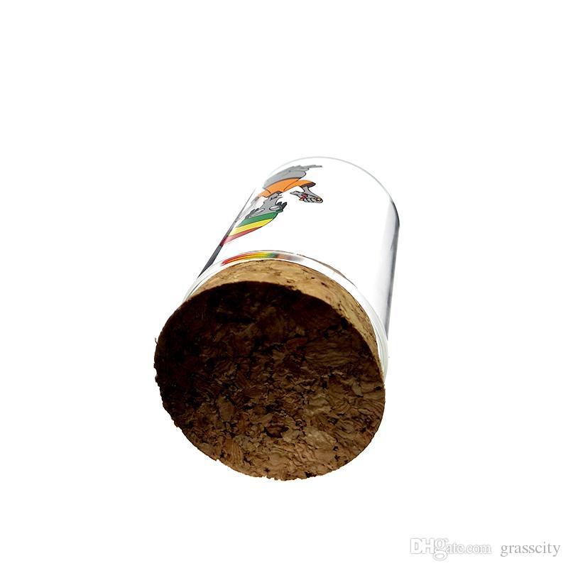 Toptan fiyat Yüksek Kalite Sigara Moistureproof Kuru Ot ve Tütün Saklama Kabı için Temizle Cam Kavanoz
