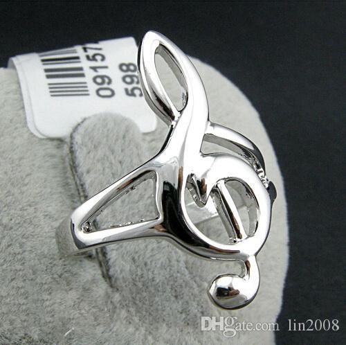 оригинальность Примечание кольцо для женщин и мужчин,18K позолоченный любимый музыкантов ювелирные аксессуары