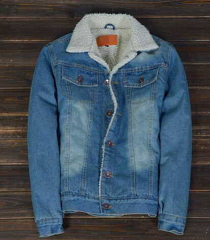 Men'S Sherpa Fleece Lined Denim Jacket In Size S,L,Xl Cool Jacket ...