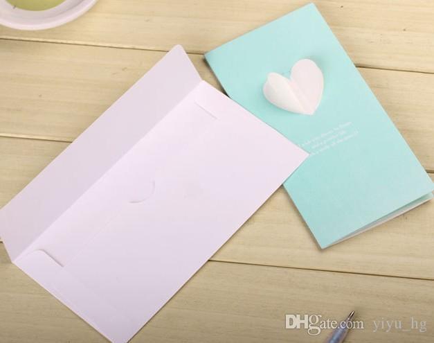 أجنحة ثلاثية الأبعاد الإبداعية للطي مصغرة بطاقة معايدة الزفاف شكرا رسالة بطاقة هدية عيد ميلاد بطاقات المعايدة عيد نعمة