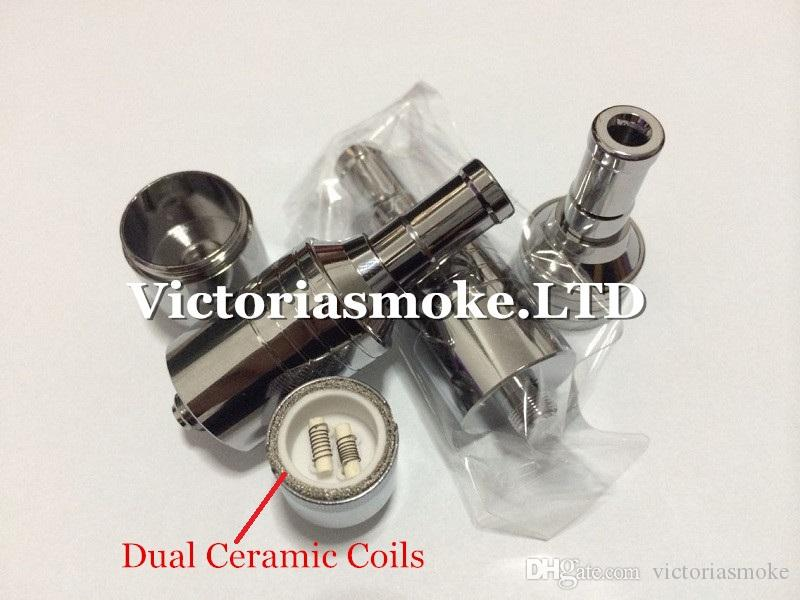 D-CORE double coils wax atomizer Ceramic Cotton rob wax vaporizer dual heating coils wax cartomizer e cigarette electronic Cigarette