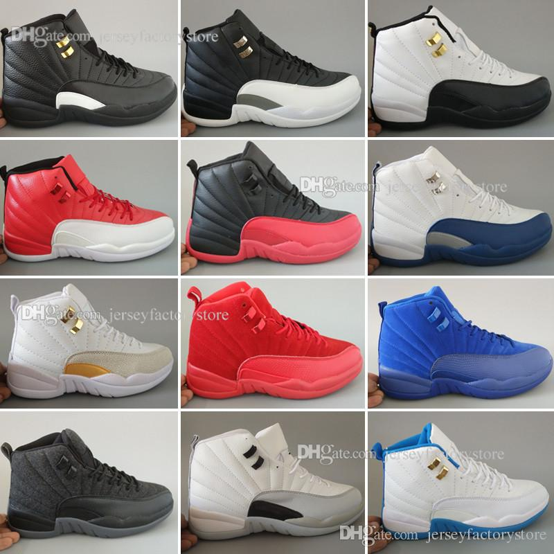High Quality Cheap New 12 mens Basketball Shoes for Men sneakers Women 12s White Gym Red Taxi Blue Suede Flu Game Sports trainers