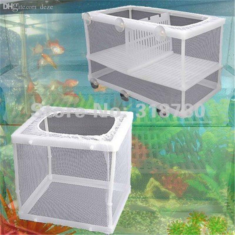 S / L Fish Hatchery Aquarium Elevage Hôpital Piège Bébé Fish Tank En plastique Net Fry Hatchery Eleveur Élevage Incubateur Isolement