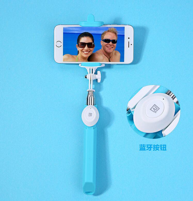 REMAX P3 Moda Bluetooth Selfie Sticks Monopod con embalaje diseño novedoso extensible para teléfonos inteligentes con sistema IOS / Android