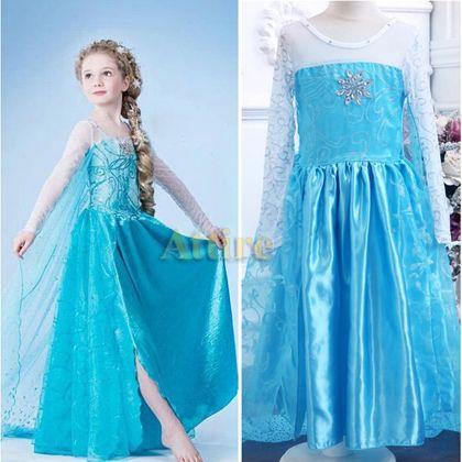 Großhandel 2014 Neue Design Gefrorene Prinzessin Dress Kids ...