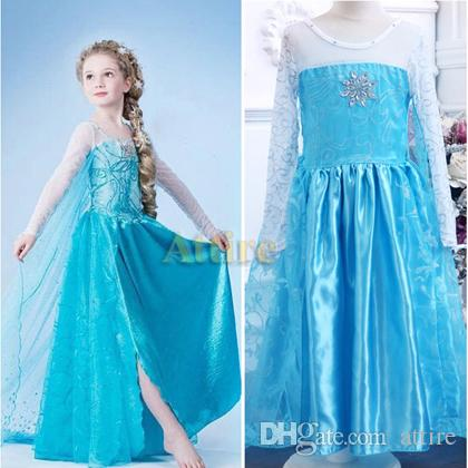 2018 2014 New Design Frozen Princess Dress Kids Princess Elsa Dress Cosplay Costume In Frozen Costume Fancy Dress From Attire $8.46 | Dhgate.Com  sc 1 st  DHgate.com & 2018 2014 New Design Frozen Princess Dress Kids Princess Elsa Dress ...