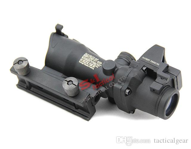 Tactical ACOG 4X32 Rifle Scope with RMR Micro Red Dot for HuntingR