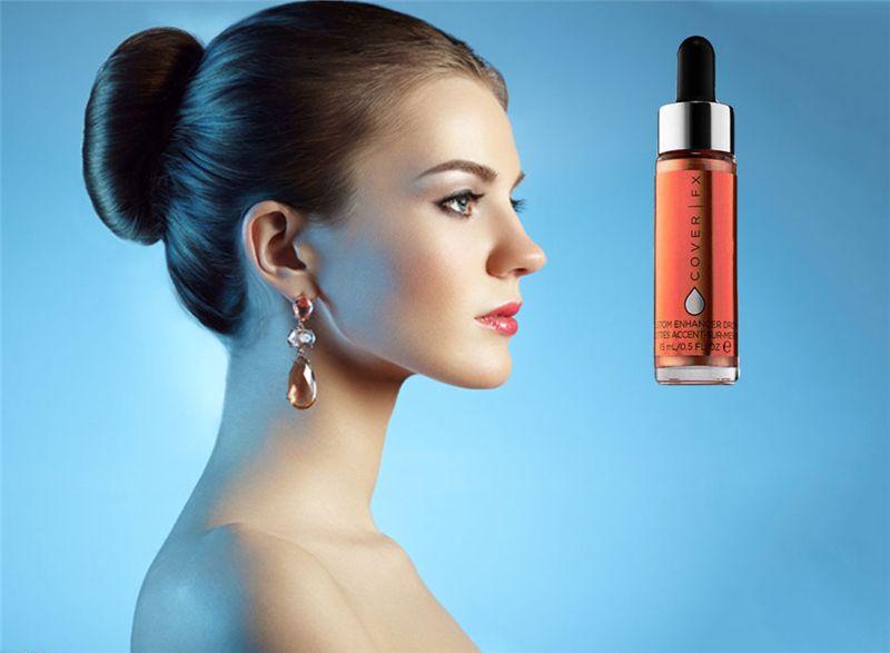 2018 New Cover FX Custom Enhancer Drops Face Highlighter Powder Makeup Glow 15ml Brand Liquid Highlighters Cosmetics Halo Moonlight