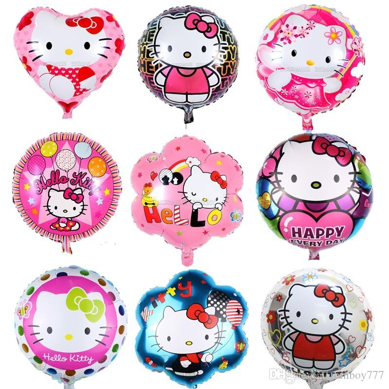 Hello Kitty Balloon 4545cm Foil Balloons Birthday Party Wedding Helium Children Classic Baby Toys Order Ballons S From Tomboy777